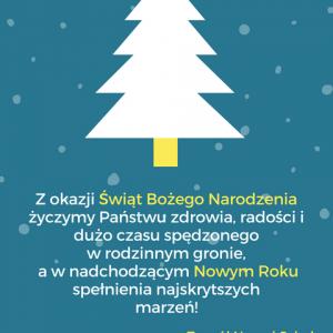 Z okazji Świąt Bożego Narodzenia życzymy Państwu zdrowia, radości i dużo czasu spędzonego w rodzinnym gronie.