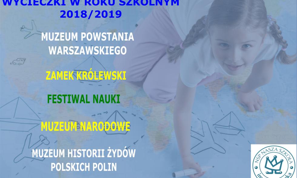 Wycieczki w roku szkolnym 2018/2019