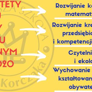 Priorytety na rok szkolny 2019/2020