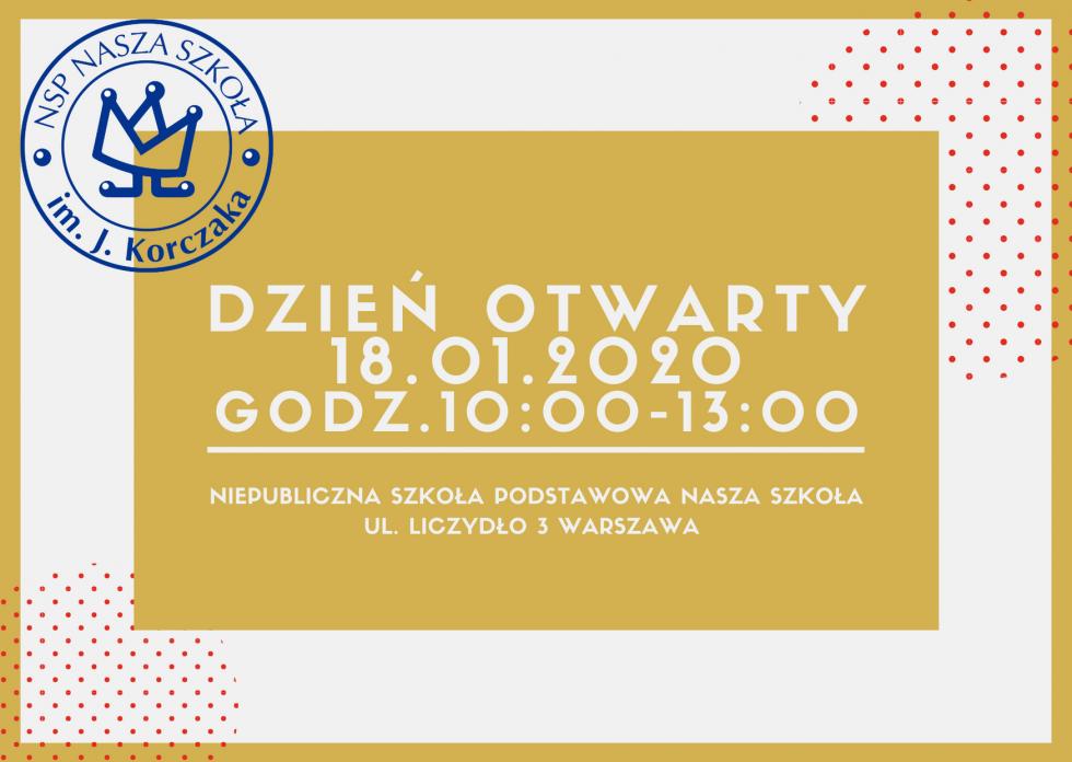 DZIEŃ OTWARTY 18.01.2020