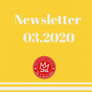 Newsletter marzec 2020