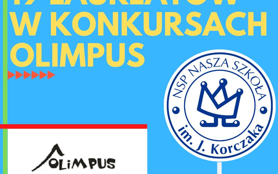 19 laureatów w ogólnopolskich konkurach Olimpus