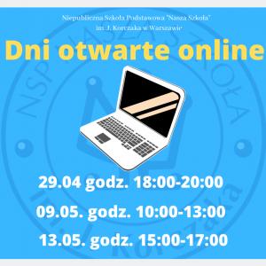 29.04, godz. 18:00 – dzień otwarty online