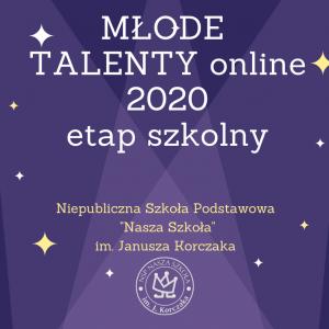 Młode Talenty online etap szkolny