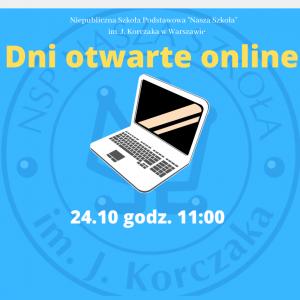 Dni otwarte online 24.10.2020 r. godz. 11:00