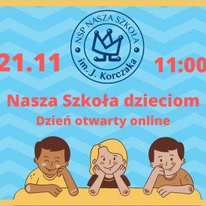 Dzień otwarty online dla dzieci