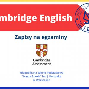 Egzaminy Cambridge w Naszej Szkole